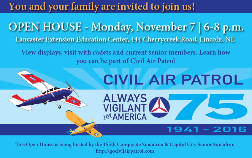 November 7, 2016 Open House in Lincoln, Nebraska